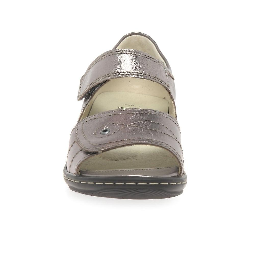 Waldlaufer Kansas dame Wide passer læder sandaler