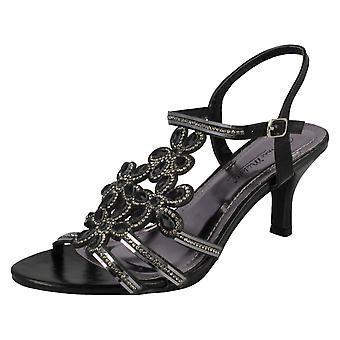 Ladies Anne Michelle Strappy Diamante Evening Sandals F10581