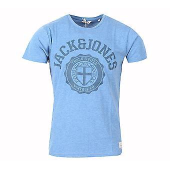 Jack and Jones atletische Tee licht blauw T-Shirt