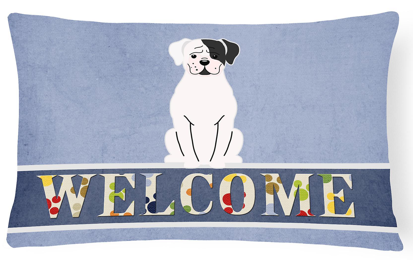 Bienvenue Oreiller Toile Décoratif Tissu Boxer Blanc Cooper CQrthxsdB