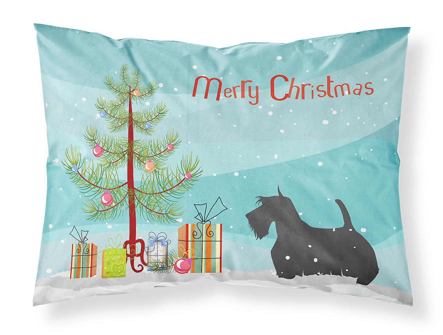 Tissu Scottish Merry Christmas De Taie Terrier Tree D'oreiller Standard Pkw8OXn0