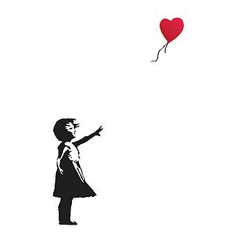 Banksy globo niña cartel cartel imprimir por