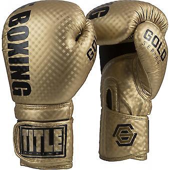 Titel boxning Gold Series stimulera krok och ögla boxning handskar