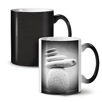 Rock-Zen meditieren Natur neue schwarze Farbe wechselnden Tee Kaffee Keramik Becher 11 oz   Wellcoda