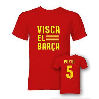 Carlos Puyol Visca El Barca Hero T-Shirt (Red)