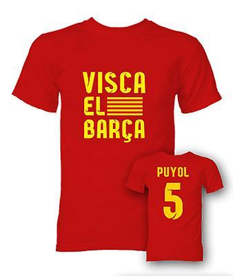 Carlos Puyol Visca El Barca held T-Shirt (rood)