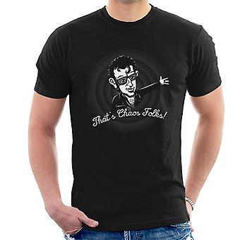 Das ist Chaos Leute Jeff Goldblum Jurassic Park Herren T-Shirt