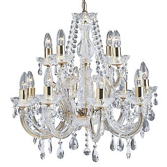 12 Light(8+4) poli laiton Marie Therese Crystal - projecteur 699-12