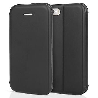 iPhone 5 PU Leather Stand ID Wallet - Black
