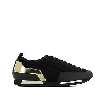 Balmain women's S7CBV0201231761 black fabric slip on sneakers