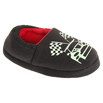 Slumberzzz Childrens/Kids Glow In The Dark Car Design Slippers