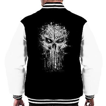 Punisher Splatter Skull Men's Varsity Jacket
