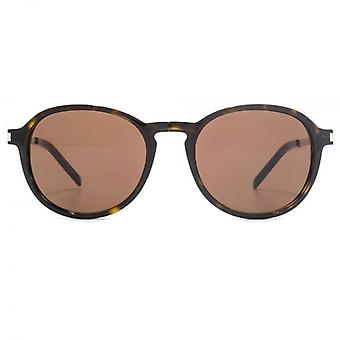 Saint Laurent SL 110 Sunglasses In Black Brown