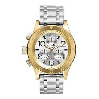 Nixon The 38-20 Chrono Gold Silver Silver (A4042062)