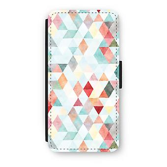 iPhone 6/6S Plus Flip Case - triangoli colorati pastello