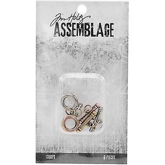 Tim Holtz Assemblage Clasps 6/Pkg-Small Toggles THA20054