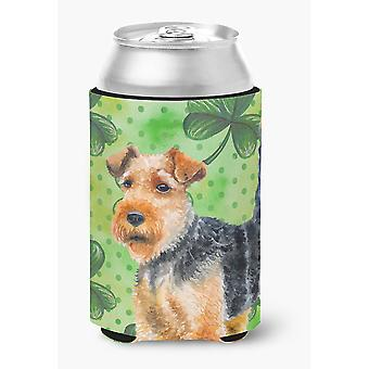 Carolines Treasures  BB9874CC Welsh Terrier St Patrick's Can or Bottle Hugger