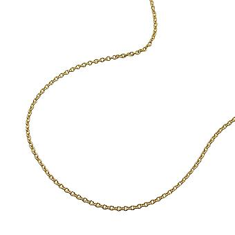 Necklace thin anchor chain 38cm 9k gold
