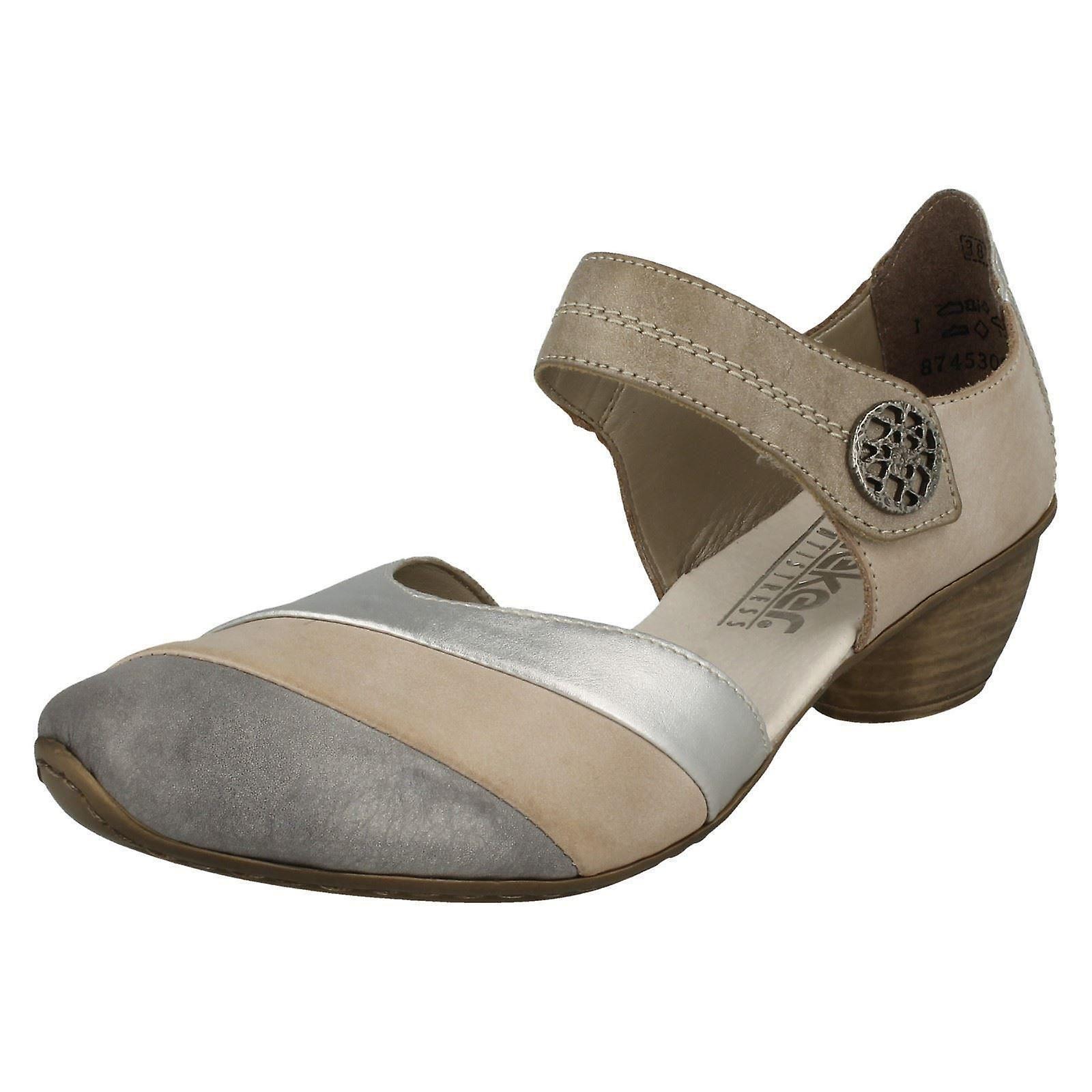 8b9d1dc2a14 Ladies Rieker Heeled Casual Shoes Shoes Shoes 43790 2b0688 ...