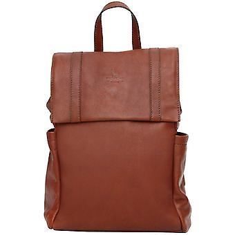 Couro genuíno mochila mochila caso saco mochila com bolso acolchoado Tablet Made In Italy