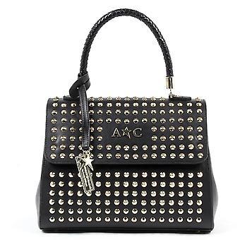 Andrew Charles Womens Handbag Black Ashlin