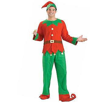 Santa's Helper Elf Santa Claus Christmas Unisex Women Mens Costume STD