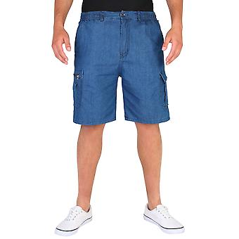 KRISP Cargo Denim Shorts