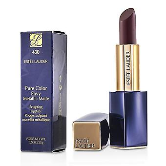 Estee Lauder rene farger misunner Metallic matt skulpturer leppestift - # 430 lidenskap Patina - 3.5g/0.12oz