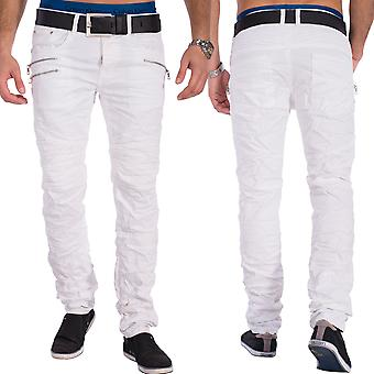 White male jeans denim biker style zippers failed Skinny Fit