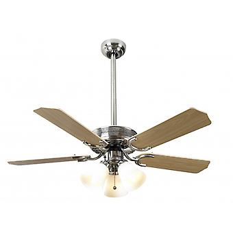 Ceiling Fan Vienna stainless steel with light 107 cm / 42