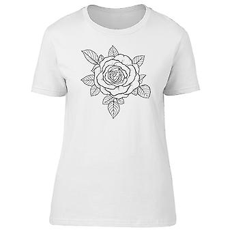 Black And White Rose Tee Women's -Image by Shutterstock