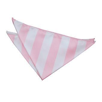 Baby Pink & White Striped Handkerchief / Pocket Square