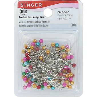 Pearlized Straight Pins-Size 20 90/Pkg