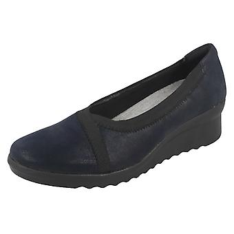 Ladies Clarks Wedge Heeled Shoes Caddell Dash