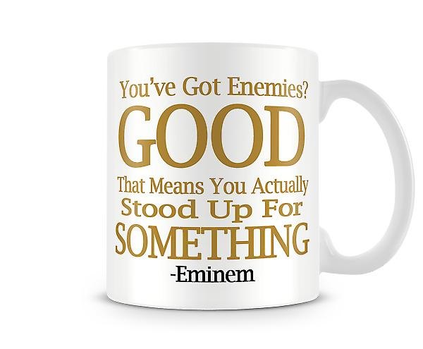 Enemies Eminem Printed Mug