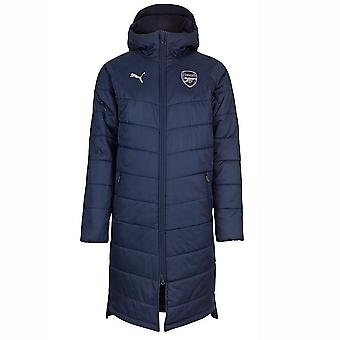 2018-2019 Arsenal Puma Long Bench Jacket (Peacot)