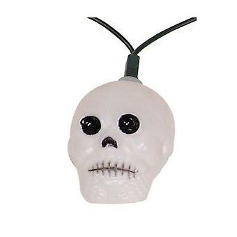 Skull string lights 10 lanterns skull skeleton skull Halloween Garland 10 m