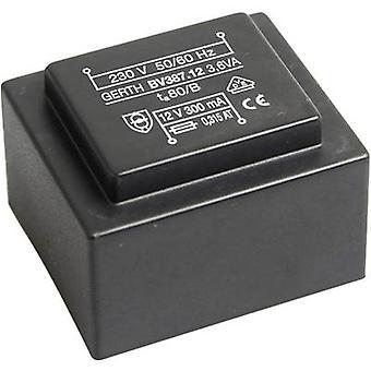 PCB mount transformer 1 x 230 V 2 x 9 V AC 3.60 VA 200 mA