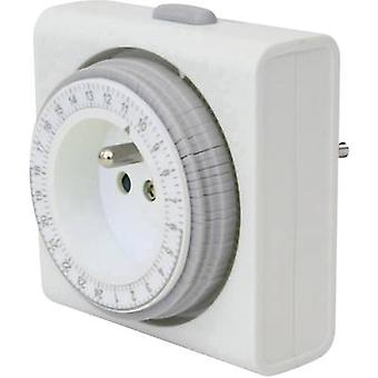 GAO 7FD/3A Timer/power strip analogue 24 h mode 3680 W