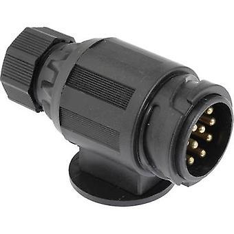 Trailer connector [13-pin socket - 13-pin plug] DINO 130079 ABS