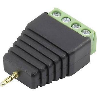 Jack plug Plug, straight Pin diameter: 2 mm Black Conrad Components 93013c1121 1 pc(s)