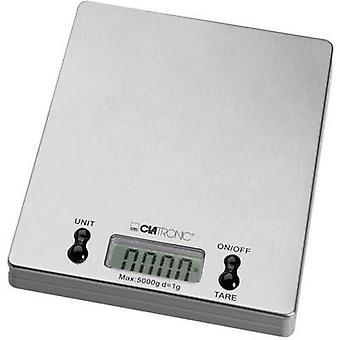 Clatronic KW 3367 Kitchen scales digital Weight range=5 kg Stainless steel