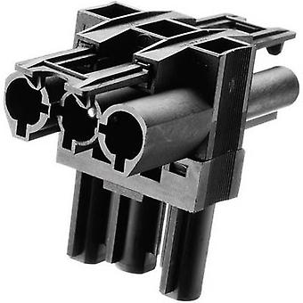 Mains distributor Mains plug - Mains socket, Mains socket Total number of pins: 2 + PE Black Adels-Contact AC 166 GVT 3/ 3 1 pc(s)