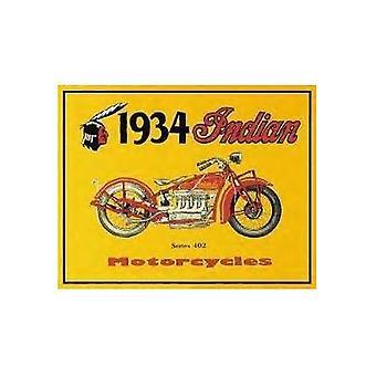 Индийские мотоциклетного 1934 металлический знак
