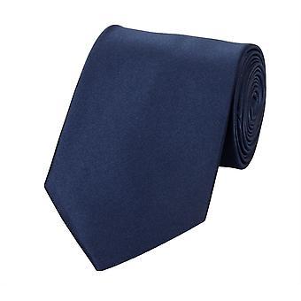 Knytte slipset binde bånd 8cm av mørk blå uni Fabio Farini