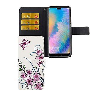 Mobile phone case pochette pour mobile Huawei P20 fleur de Lotus