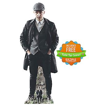 Peaky Blinders Style Gangster with Striped Shirt Cardboard Cutout / Standup