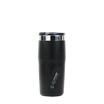 EcoVessel METRO TriMax Insulated Stainless Steel Tumbler - Black Shadow Powder Coat 16 oz