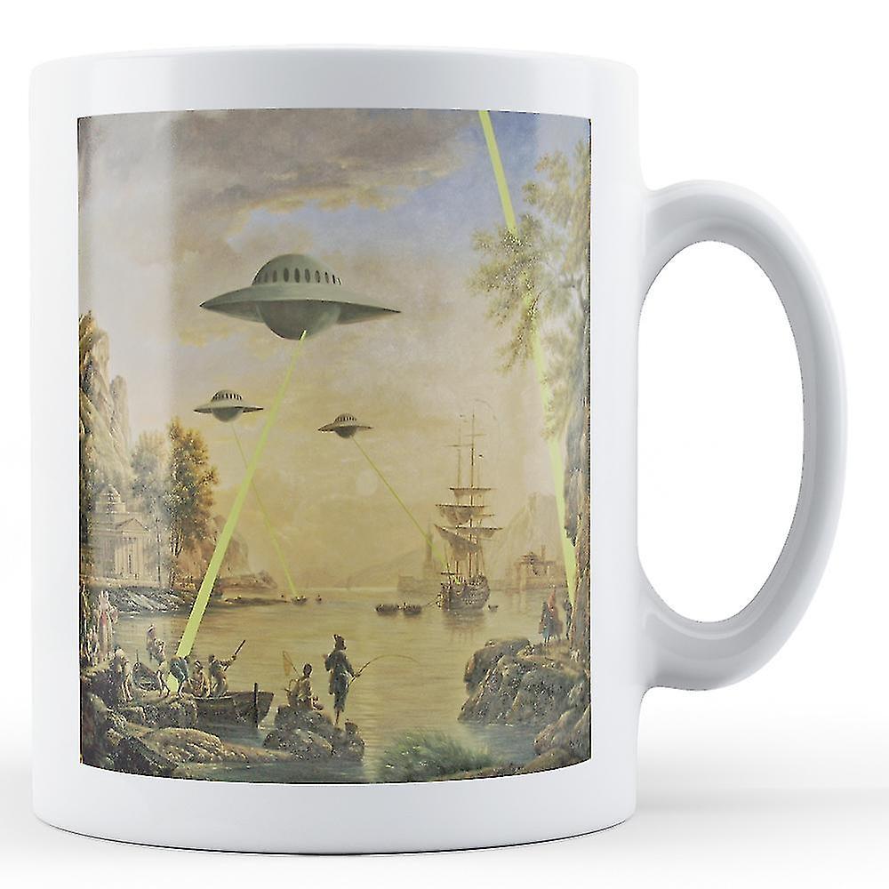 BanksyOeuvrenbsp;ufo De nbsp; Doté Mug Imprimé Painting tsrdQh