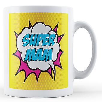 Super Mam Pop Art Mug - Printed Mug